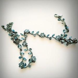 Jewelry - Aquamarine Gem Stone Necklace *Free Shipping